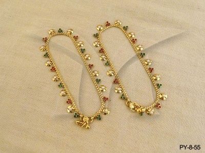 PY855 Sawtik Design Payal Jewellery Antique Payal Pinterest