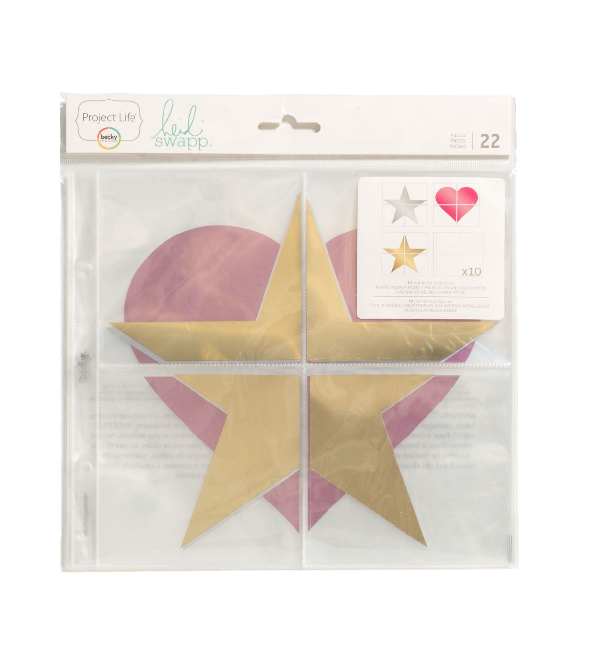 Project Life Heidi Swapp 22 Pack Pocket Pages