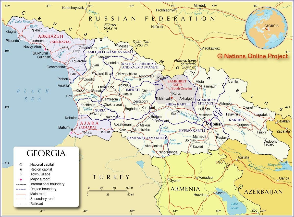 Map Of Georgia Georgia Pinterest Georgia Armenia - Georgia kakheti map