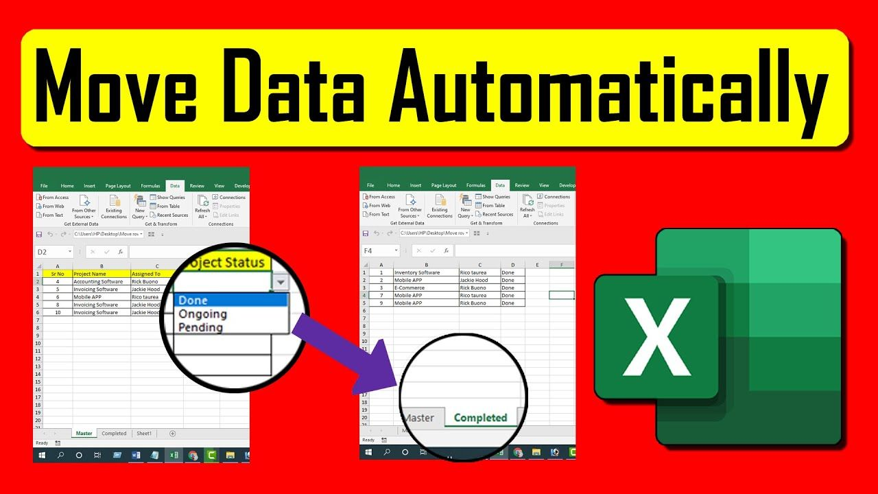How To Automatically Move Rows To Specific Worksheet Based On Text In Mi Excel Tutorials Excel Microsoft Excel