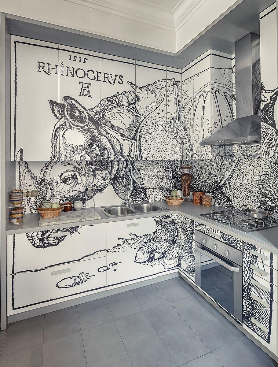 Kitchen At Home Of Maurizio Epifani Photo Lorenzo Pennati  # Wunderkammer Muebles