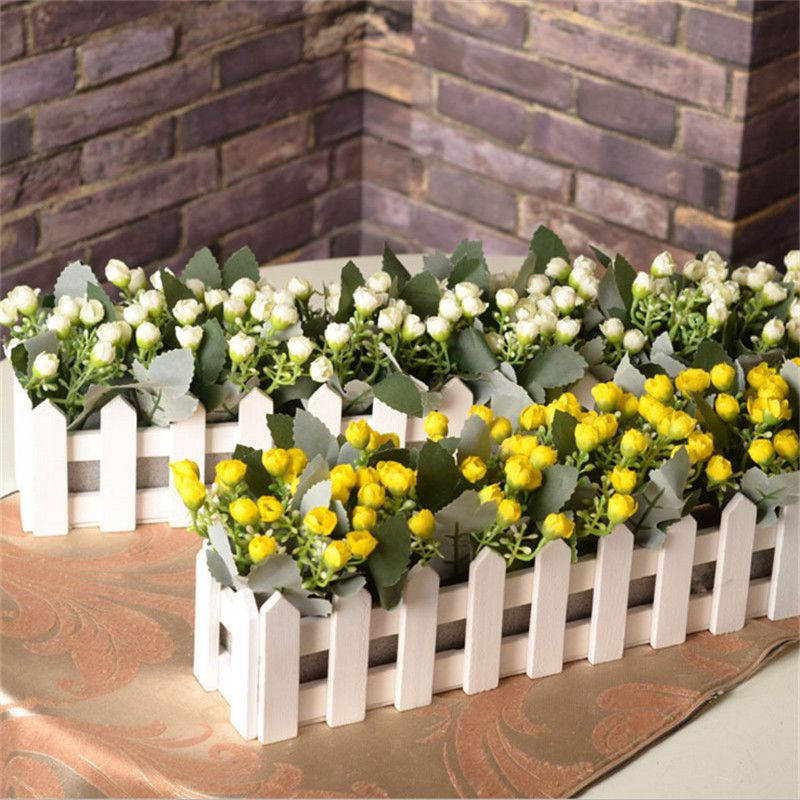 wedding centerpieces fake flowers%0A  Free Shipping  Buy Best   cm Artificial Orchid Silk Flower Fence Potted