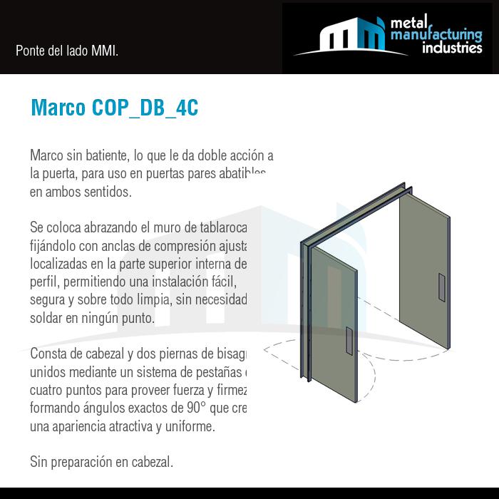 Te presentamos nuestro Marco COP_DB_4C sin batiente, lo que le da ...
