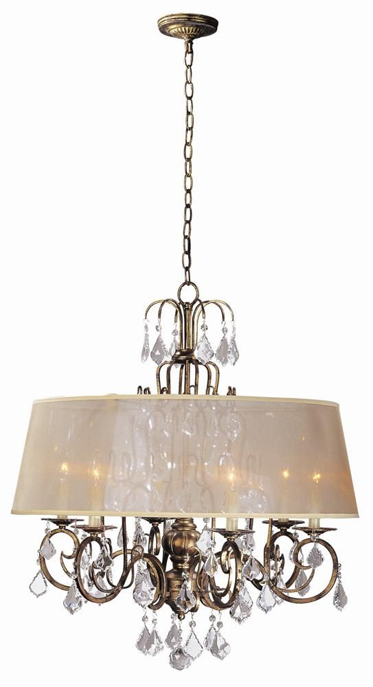 Belle marie 6 light crystal chandelier w shade in antique gold belle marie 6 light crystal chandelier w shade in antique gold wi194690 http aloadofball Gallery