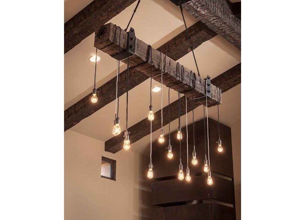 luminaire recup luminaires pinterest poutres id es et bricolage. Black Bedroom Furniture Sets. Home Design Ideas