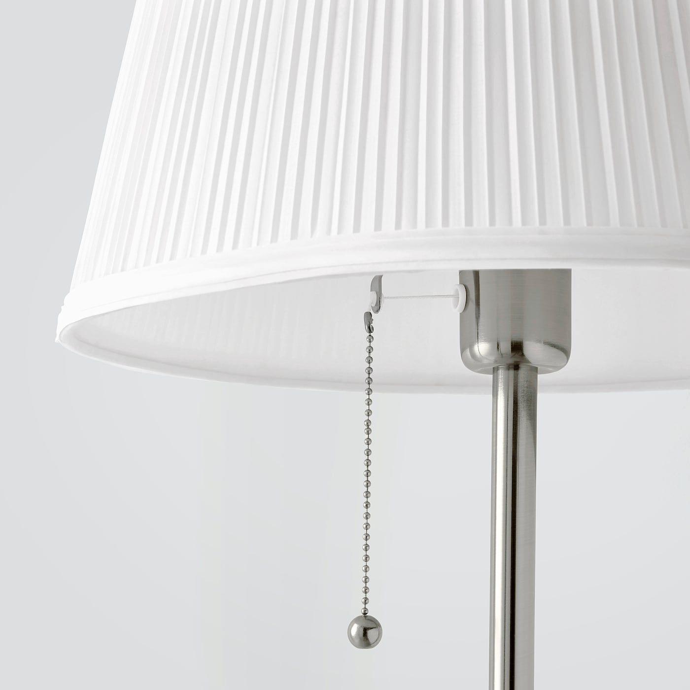 Arstid Standleuchte Vernickelt Weiss Ikea Osterreich In 2020 Standleuchte Bodenlampe Und Stehlampe Weiss