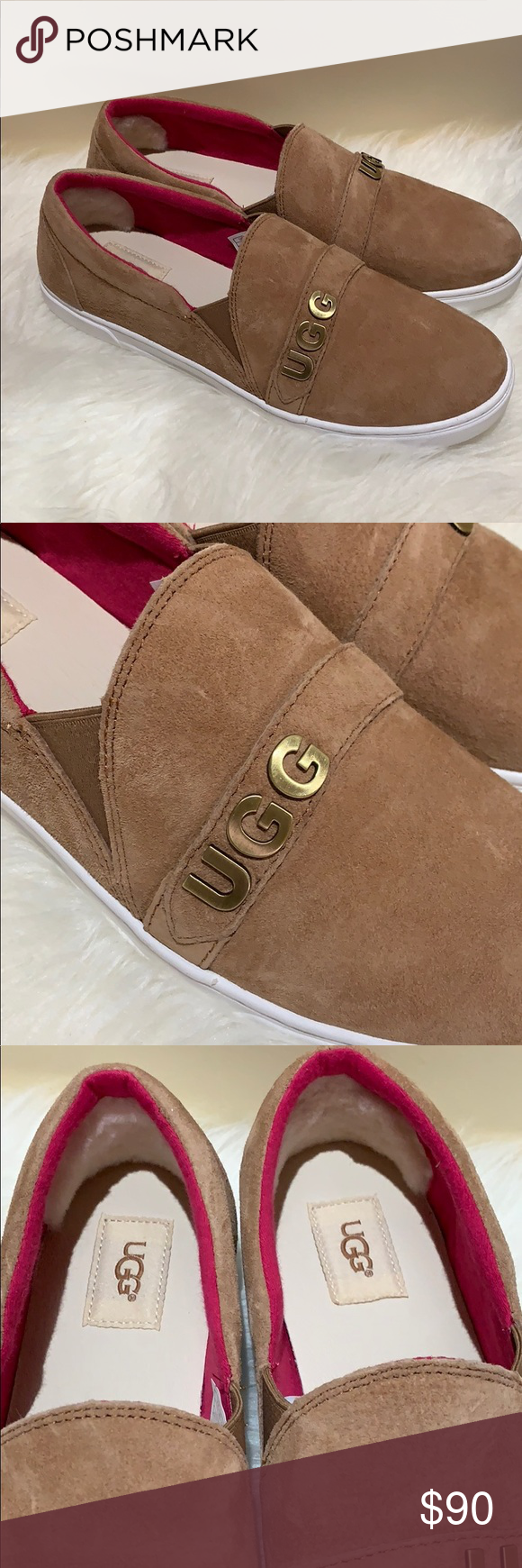 f530a55688c Ugg kitlyn charm suede sneakers loafers nwt Beautiful chestnut color ...