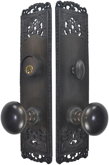 Cornice Plate Deadbolt Entryway Set Oil Rubbed Bronze Finish Deadbolt Front Door Handles Front Door Hardware