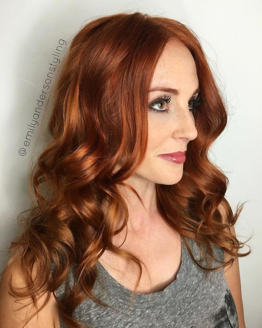 35 Best Hair Color For Green Eyes And Warm Skin In 2020 Red Hair Olive Skin Cool Blonde Hair Hair Color Auburn