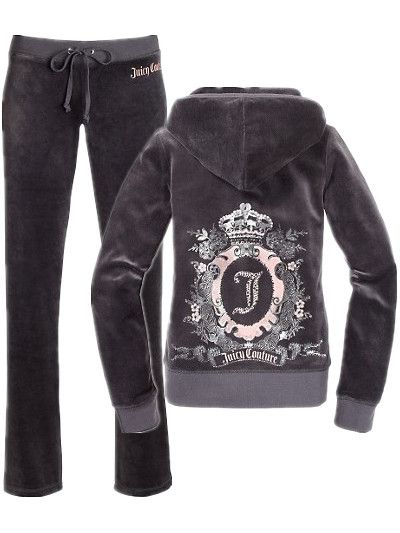 bdff4aa83763 Juicy Couture Cameo Frame Velour Tracksuit Charcoal Grey. Deffinately going  on my christmas list