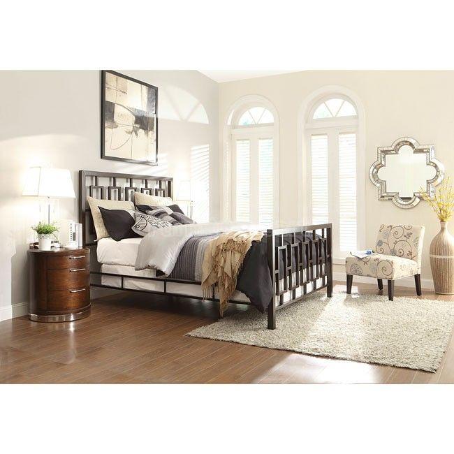 Zelda Bedroom Set W/ Metal Bed (Brushed Brown) Homelegance | Furniture Cart
