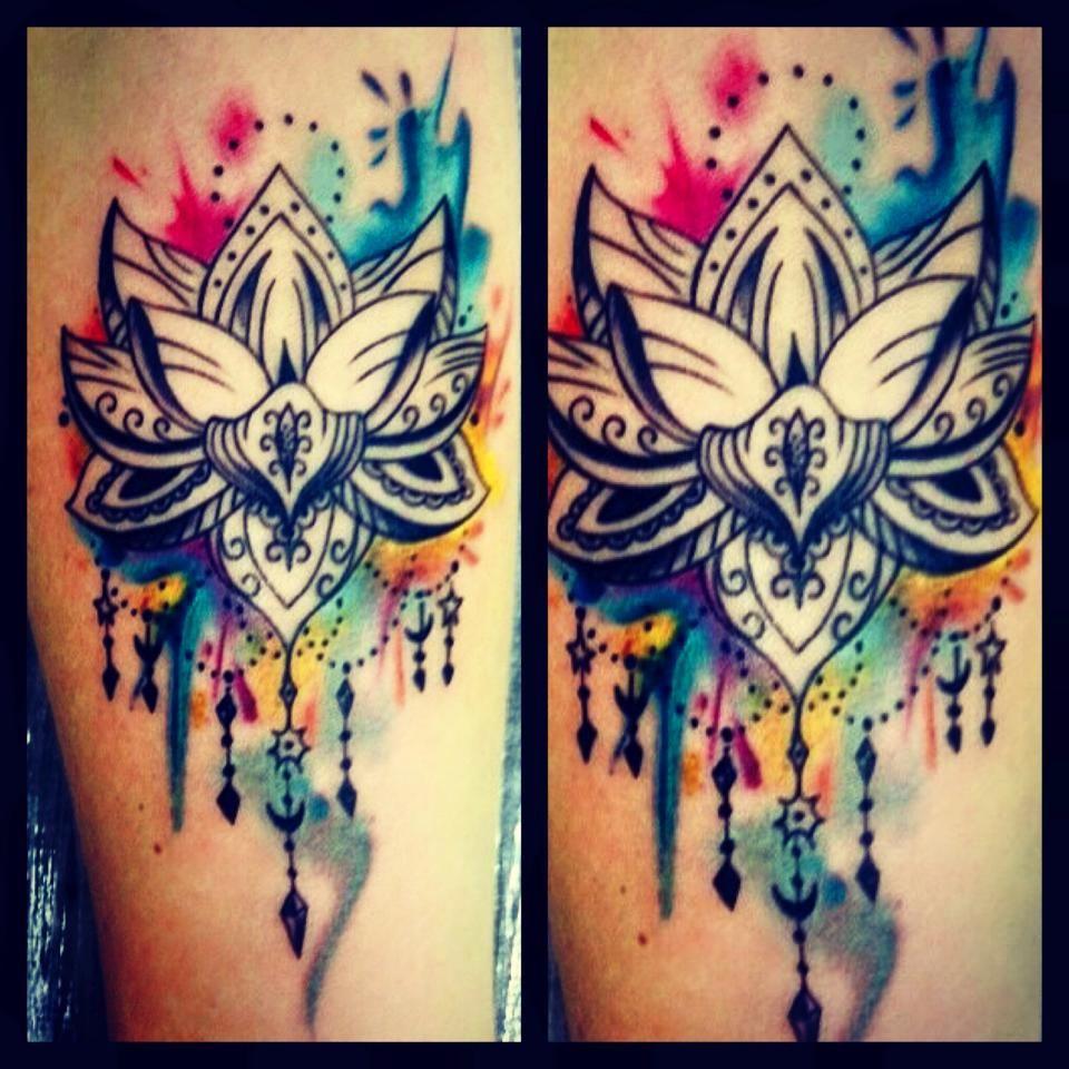 flor de lotus mandala aquarela tattoos pinterest tattoo ideen fuchs tattoo und ideen. Black Bedroom Furniture Sets. Home Design Ideas