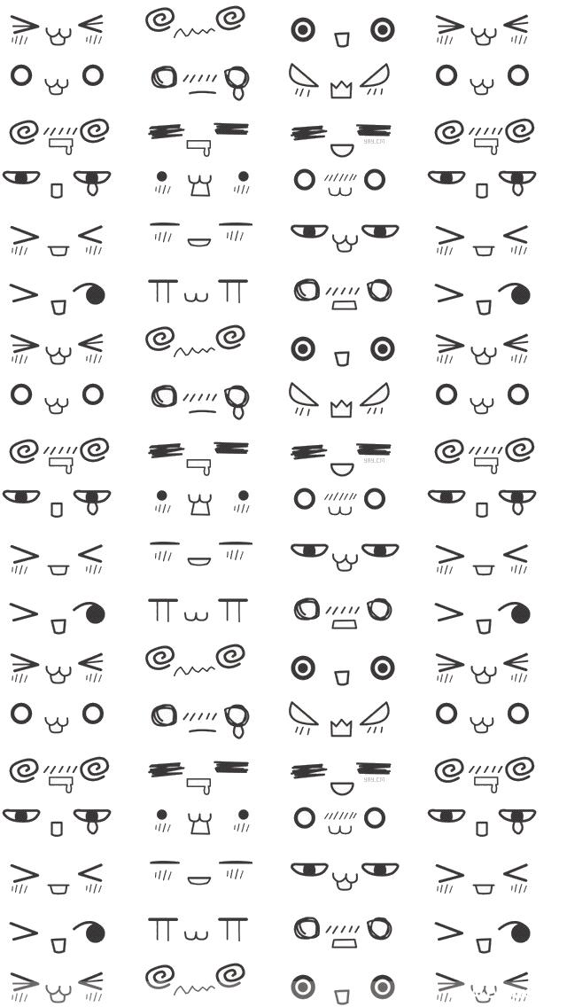 Cute Kawaii Faces Iphone Wallpaper Kawaii Wallpapers Wallpaper Zone Kawaii Drawings Iphone Wallpaper Kawaii Kawaii Faces