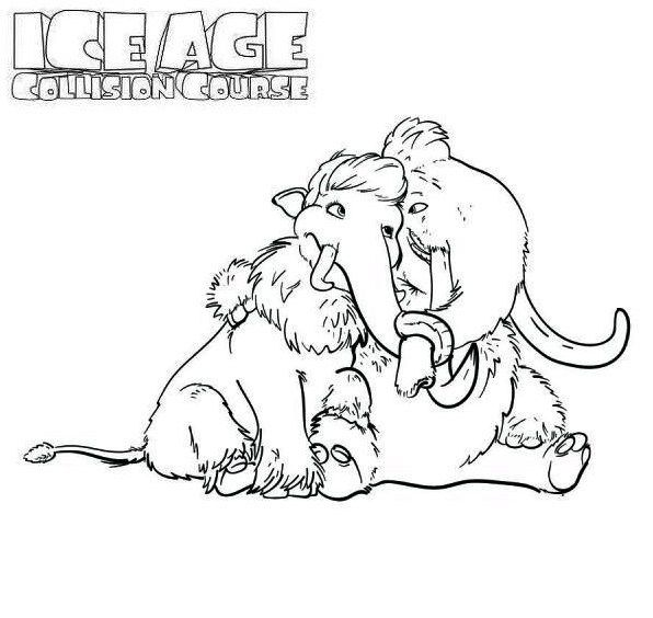 Manny And Ellie Ice Age 4 Coloring Pages Ice Age Coloring Pages Ice Age 4