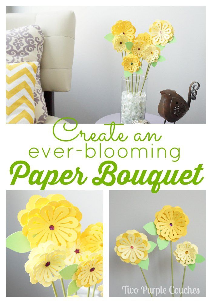 Everblooming Paper Bouquet Silhouette Paper Crafts Paper Bouquet