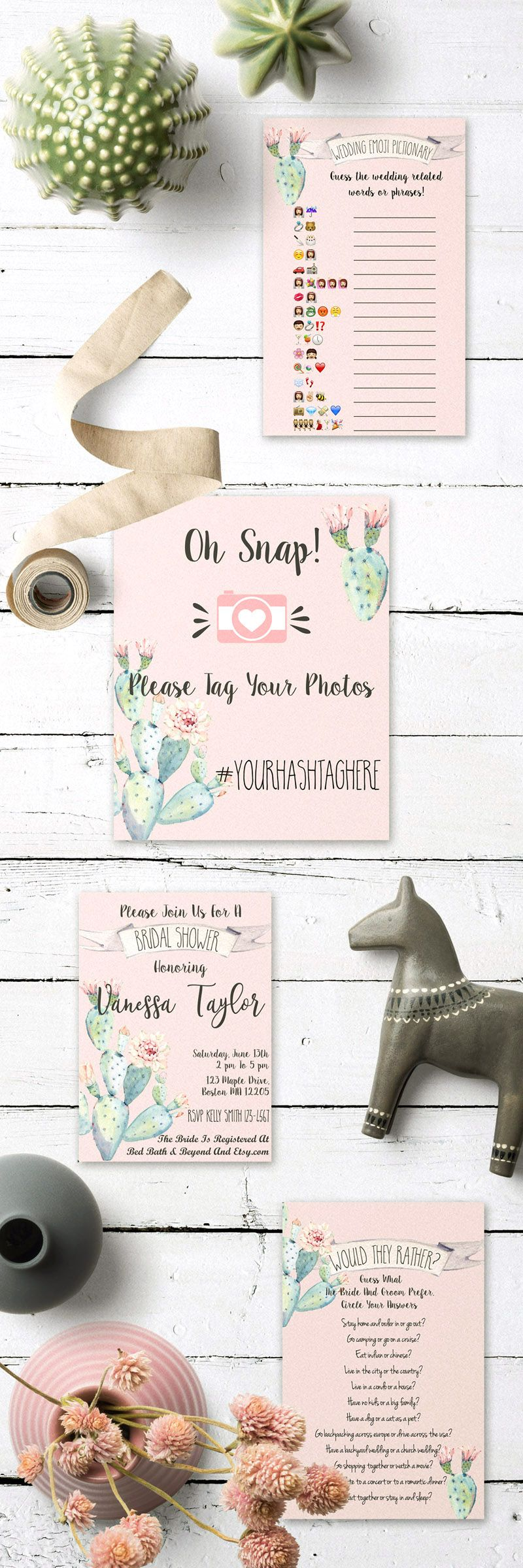 games to play at couples wedding shower%0A get these beautiful succulent themed bridal shower games and bridal shower  signs and decor in my