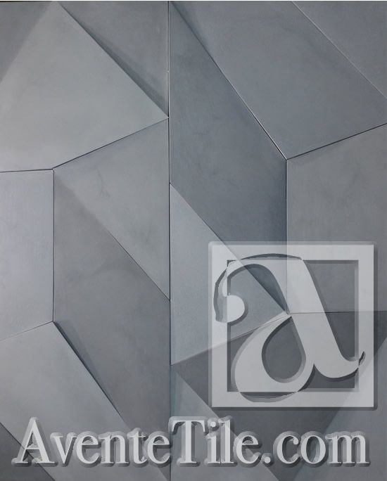 Elevations Angles Relief Wall Tile Cement Tile | Encaustic Cement Tile | Avente Tile