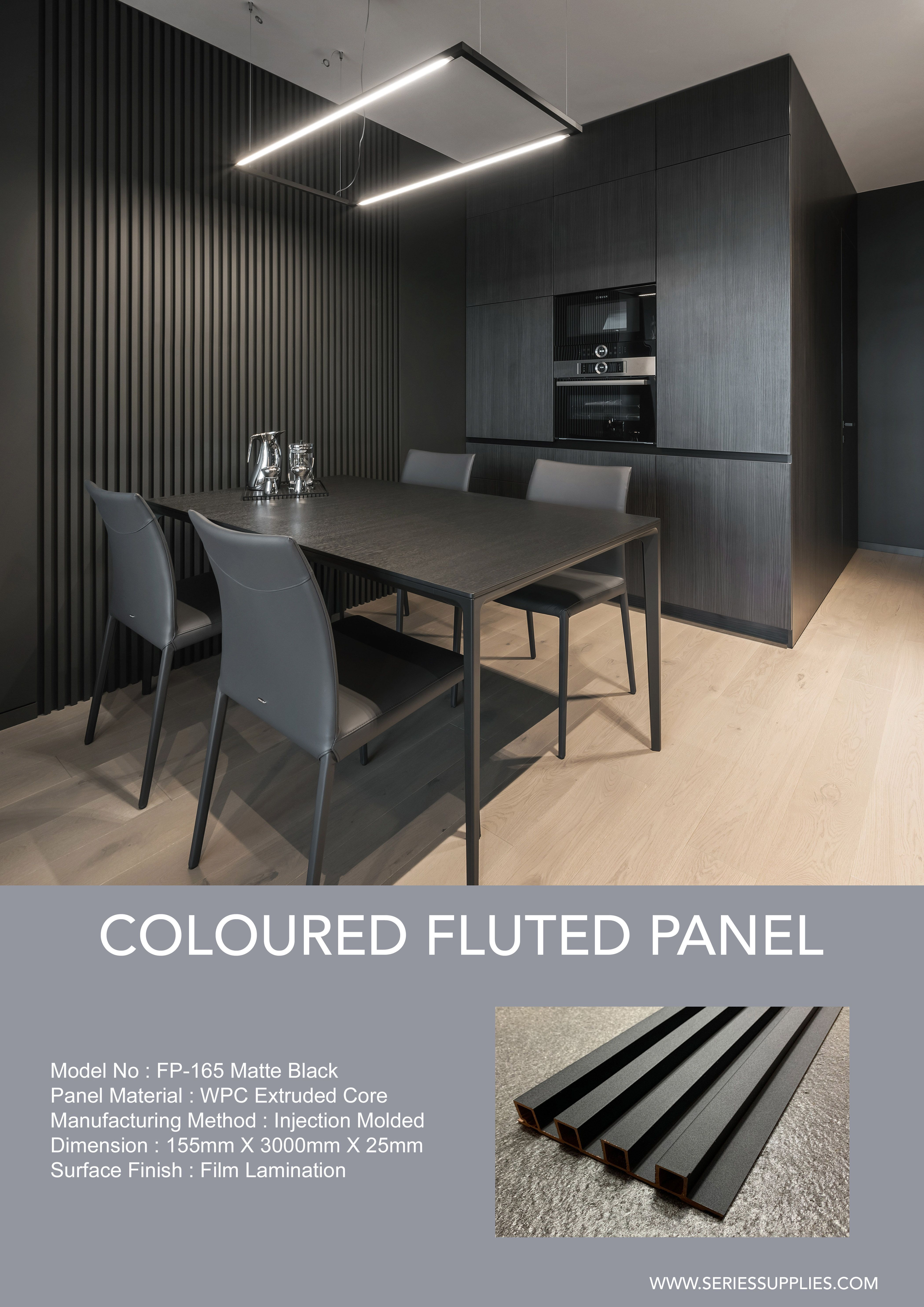 BLACK SLATS WALL PANEL in 2020 | White paneling, Wood slat ...