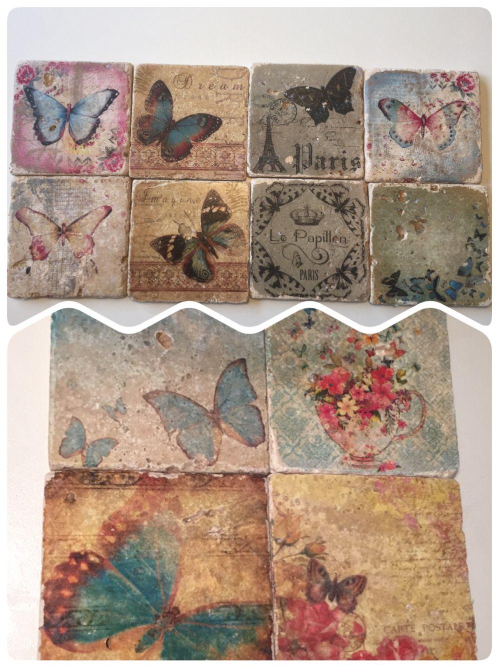 Vintage Fliesen shabby vintage fliesen schmetterlinge butterfly luxurypimp