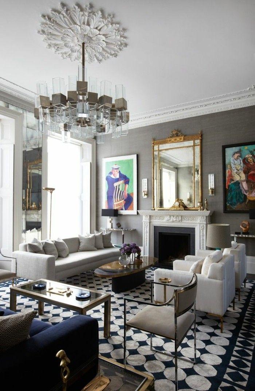 Einrichtungsideen Wohnideen Wohnzimmer Muster Kombinieren