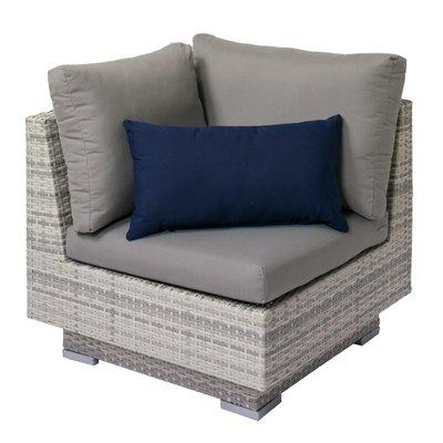 longshore tides meleri patio wicker corner chair with sunbrella rh pinterest com