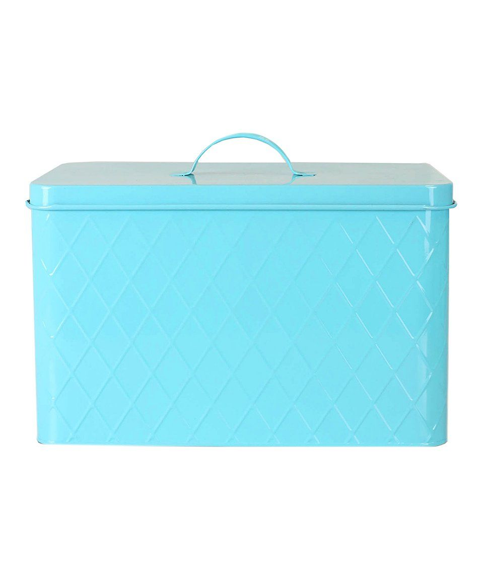 Turquoise Bread Box Take A Look At This Home Basics  Turquoise Tin Bread Box Today