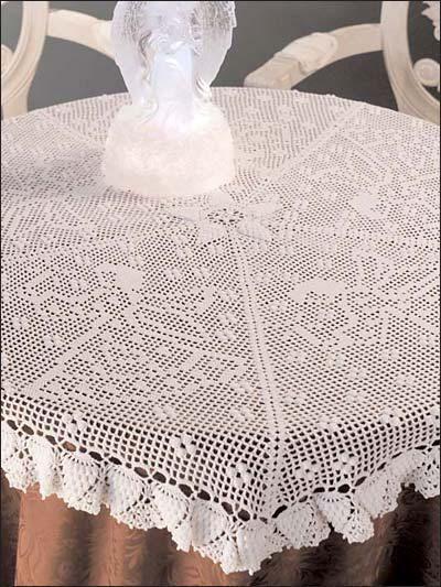 Filet Crochet Angel Tablecloth pattern | crochet | Pinterest ...