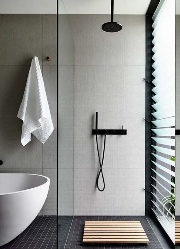 colour combination dark floor white textured porcelain panel walls rh pinterest com