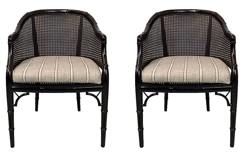 faux bamboo caned chairs set of 2 von meyer ltd products rh pinterest co uk