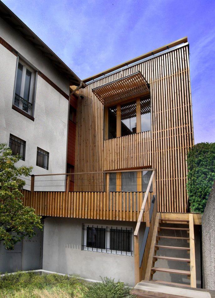 Extension passive en bois (2010) - T design architecture House 2 - Agrandissement Maison Bois Prix M