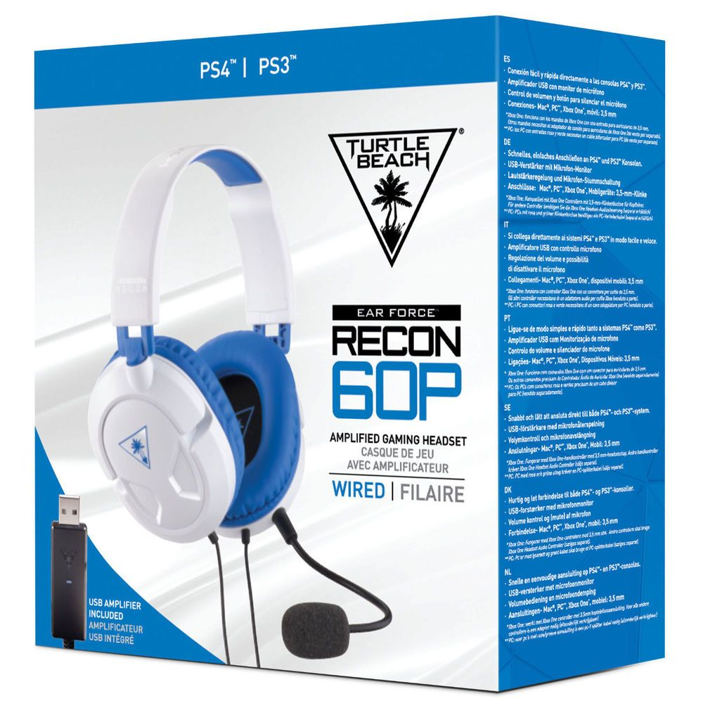 f2a7d395858 Turtle Beach Ear Force Recon 60P White Gaming Headset for PS4/Xbox One/PC