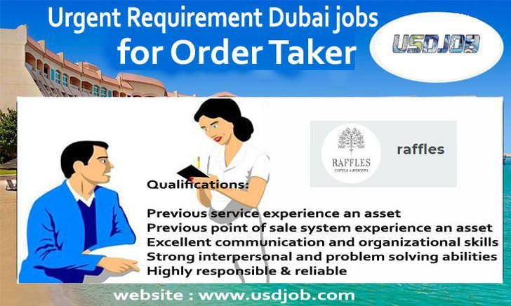 Order Taker Jobs in Dubai jobs in Dubai Pinterest