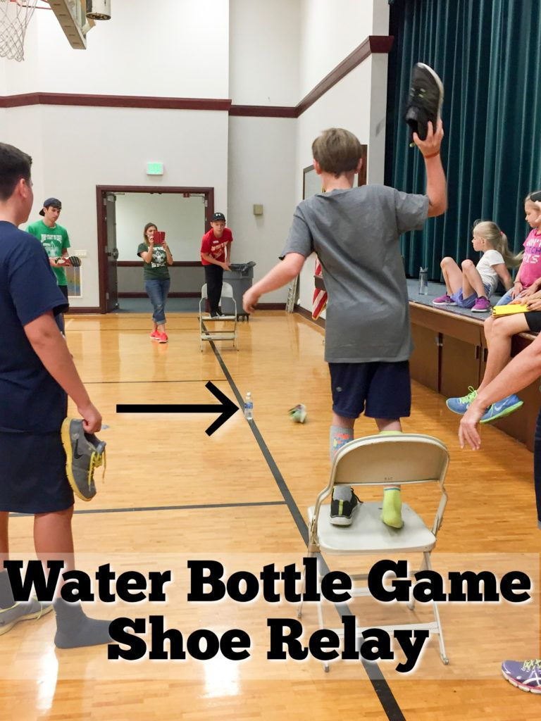 Water Bottle Relay Race a Shoe Game Relay races, Relay