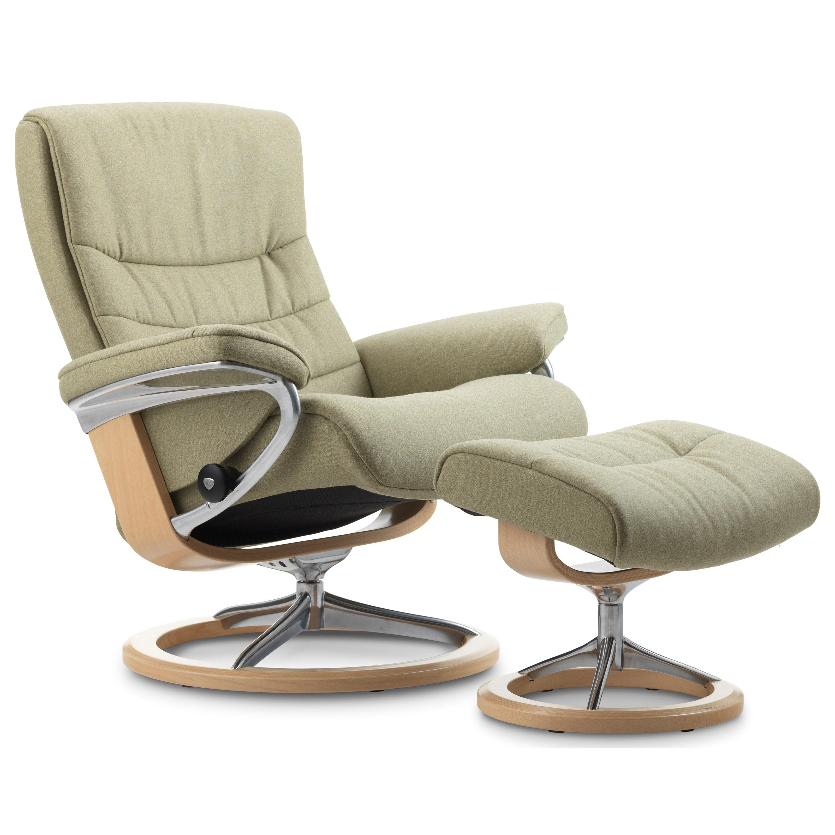 Stressless Ekornes Sessel Blue Leather Recliner Chair Stühle Leather Recliner Recliner