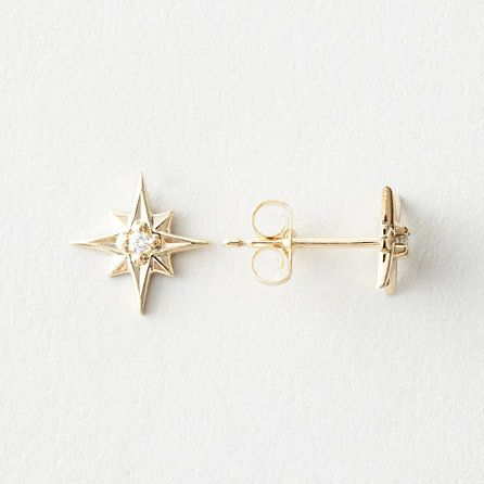 north star earrings with diamond by 1909 by erica weiner