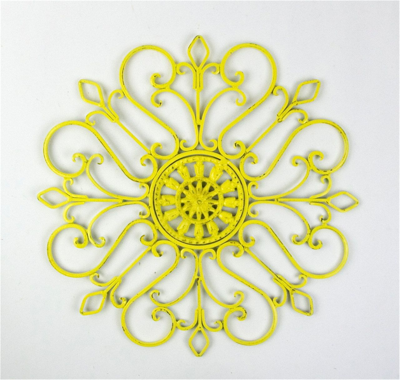 spray paint hobby lobby ones Yellow Distressed - Metal Wall ...