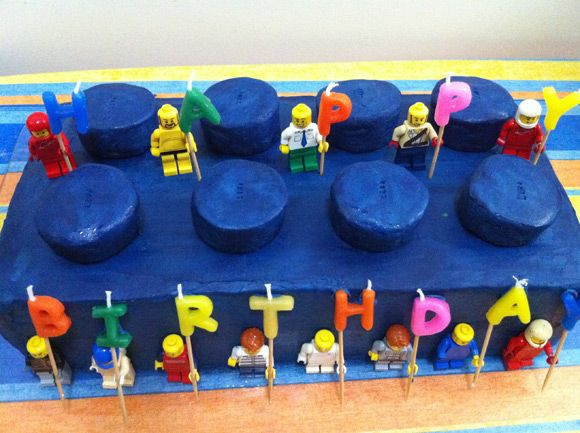 Lego Brick Birthday Cake With Images Lego Birthday Cake Lego