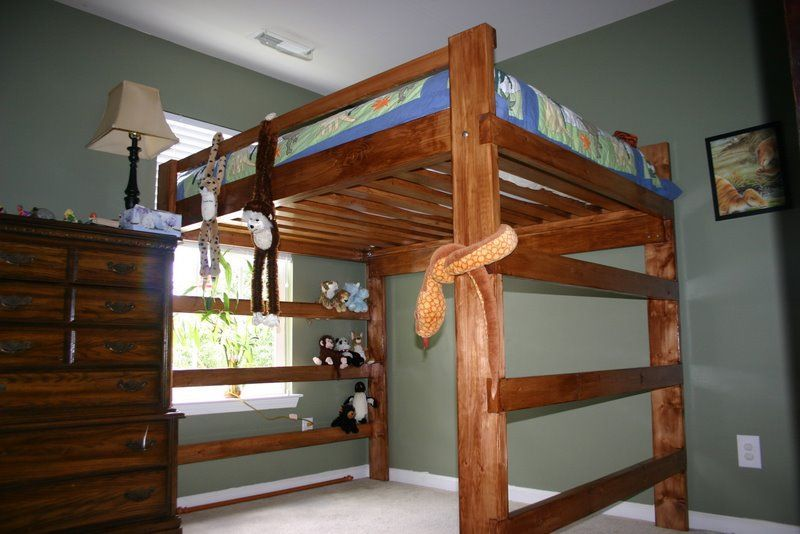 Queen Bed Loft Plans Ana White Build A Loft Bed As Seen On