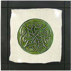 Celtic Lover's Knot Ceramic Wall Hanging