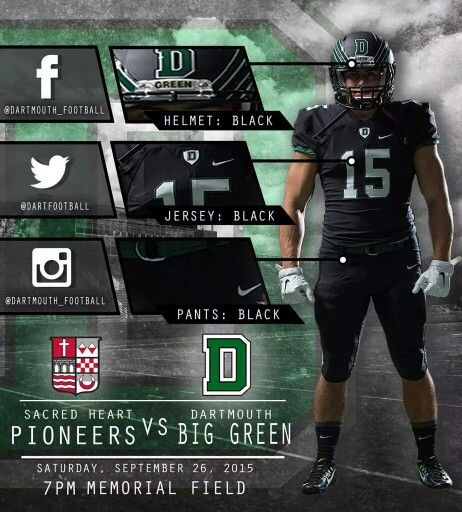 Dartmouth Dartmouth Football Football Pants Football Uniforms