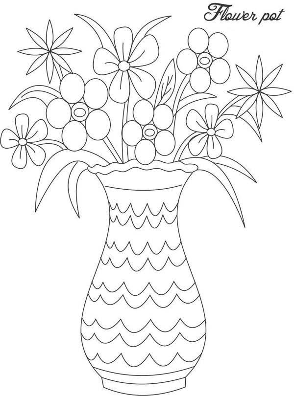 Dibujos Para Colorear Floreros 7 Florero Dibujo Flores Para