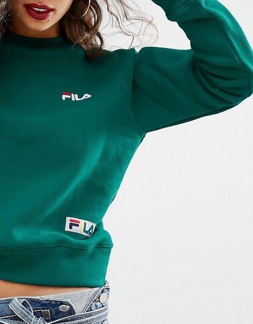 504748baf1d Green fila sweatshirt