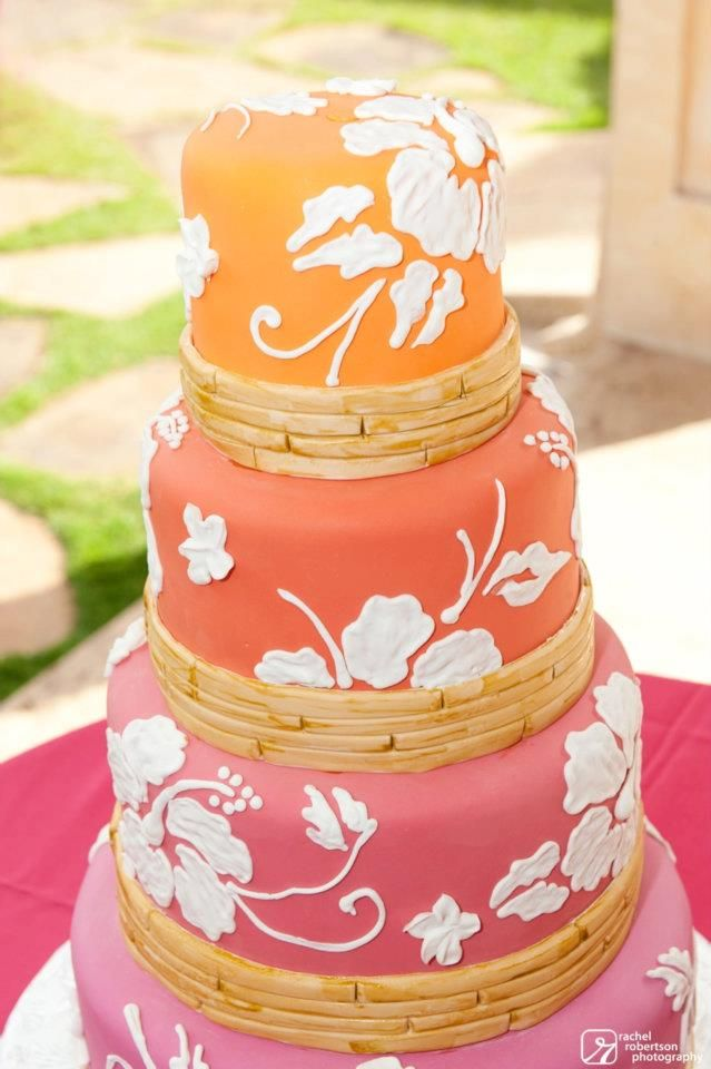 beach themed wedding cakes pinterest%0A Great Orange tropical cake