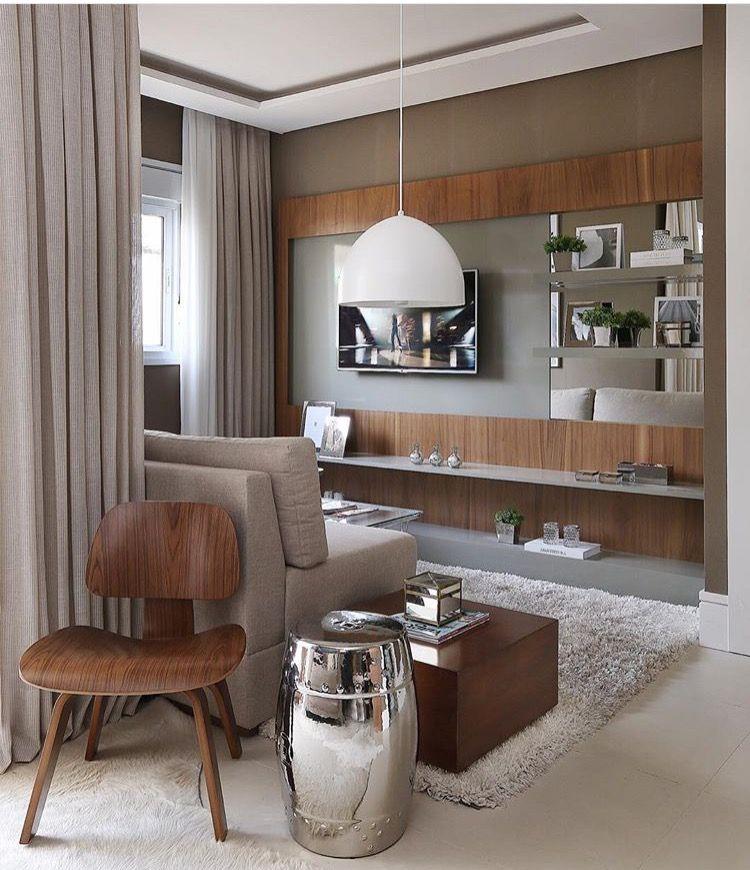 Sala de TV por Sesso e Dalanezi #living #tvlounge #homedecor #interiordesign #salamoderna #saladeestar #apartamentodecorado