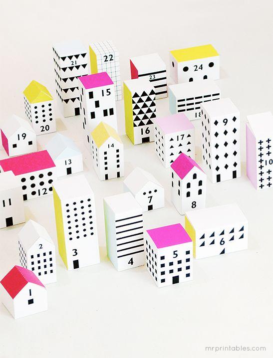 Christmas Street Advent Calendar - Mr Printables gifts ideas