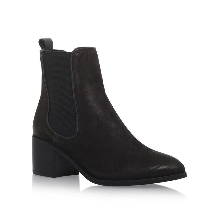 Taxx Black Mid Heel Ankle Boots By Carvela Kurt Geiger   Kurt Geiger