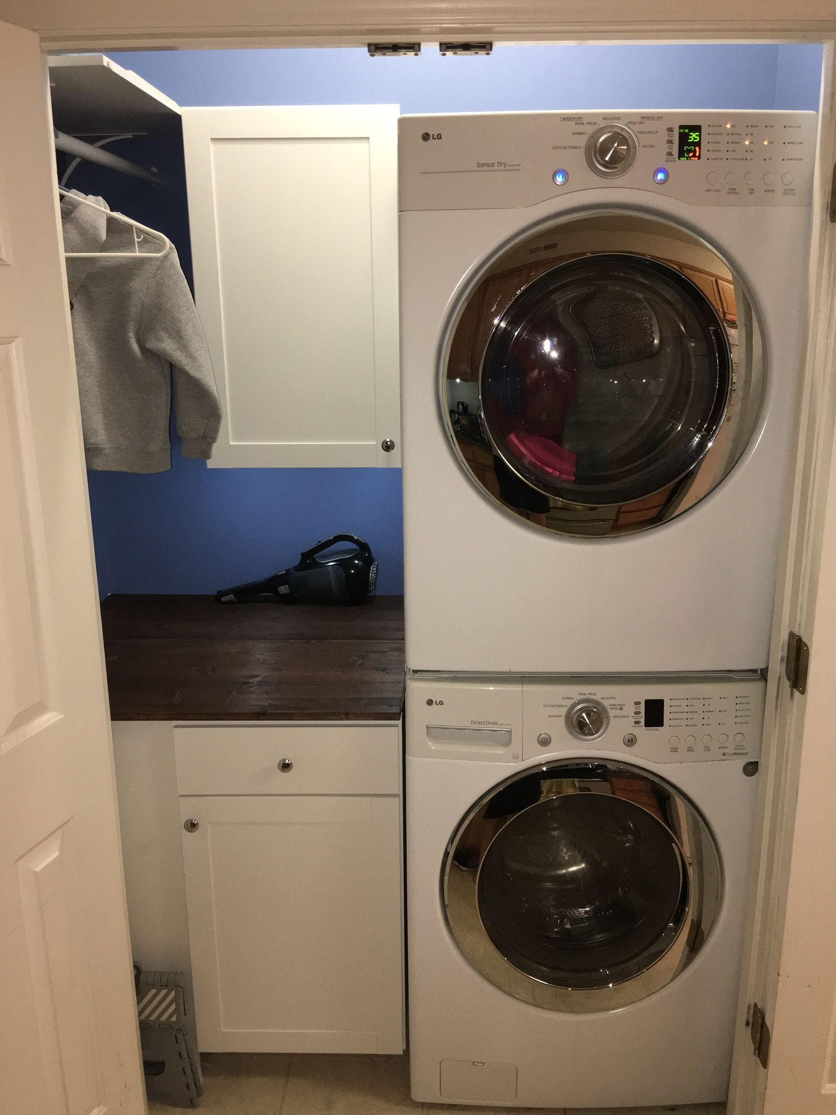 Small Laundry Closet On A Budget Cabinet Stand And Wall