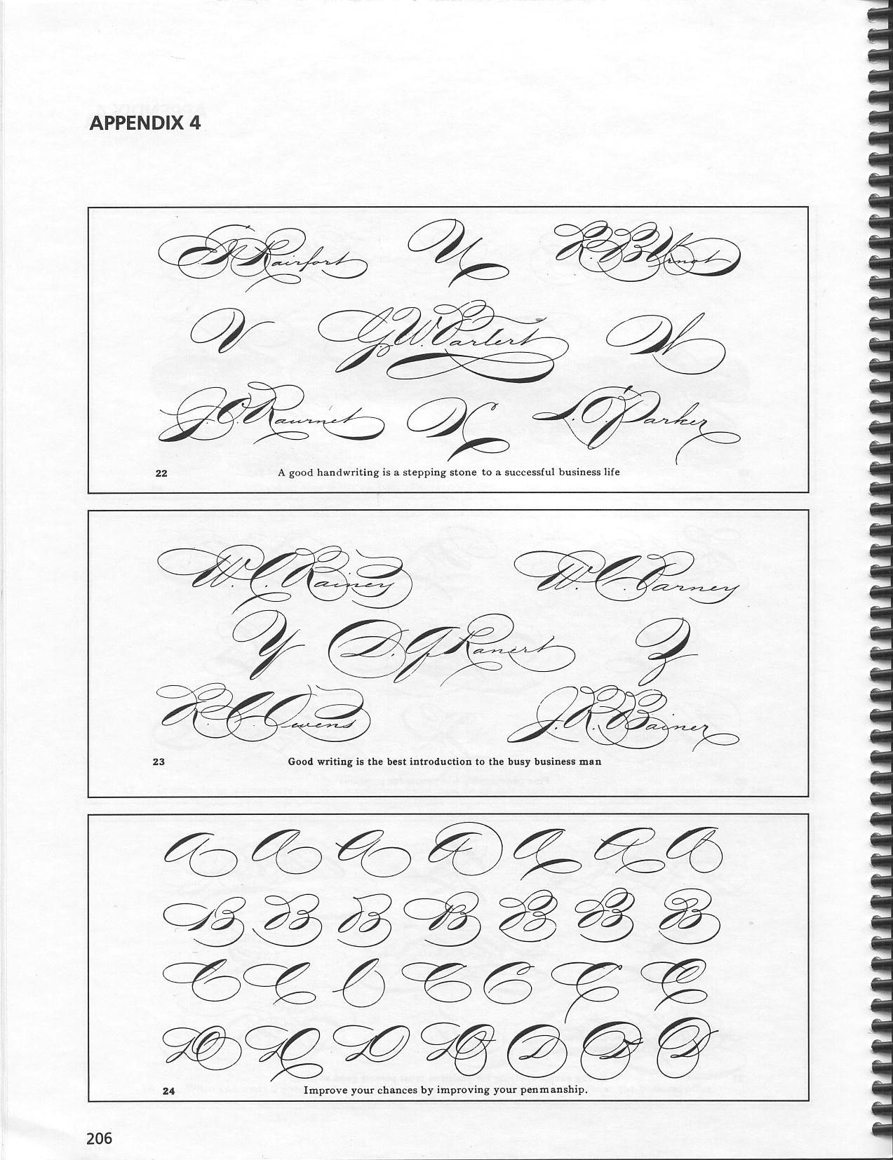Spencerian Script And Ornamental Penmanship Volume I Chapters 1 2 And 8 Michael R Sull