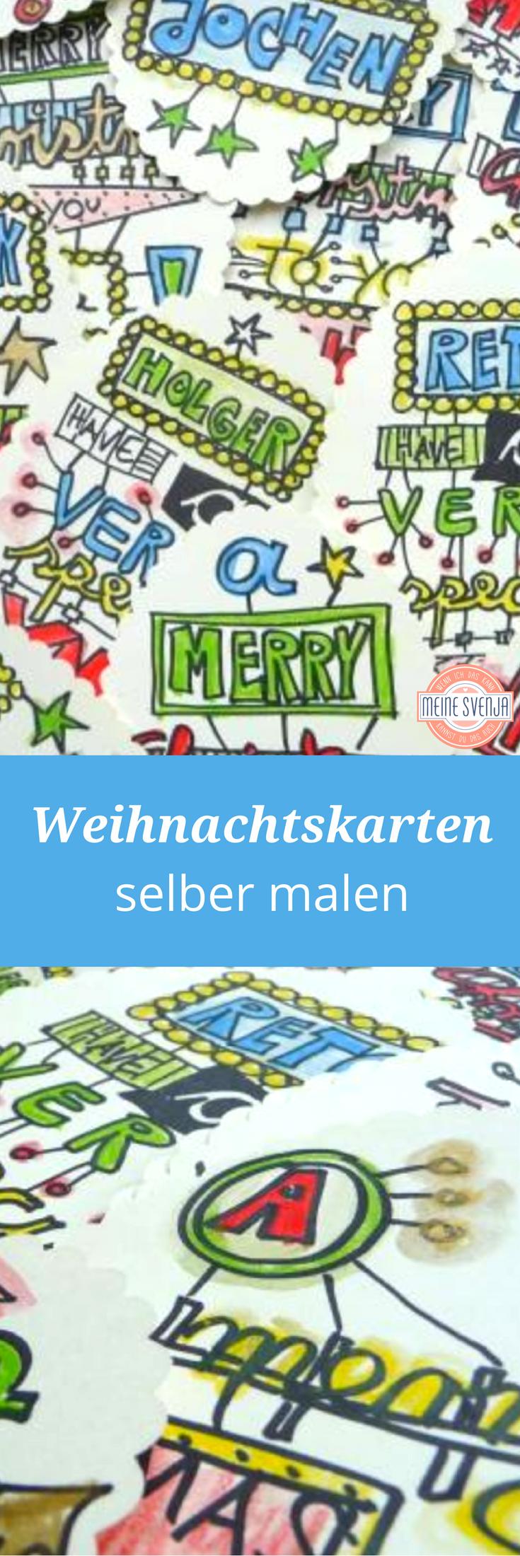 Weihnachtskarten selber malen   Pinterest   Weihnachtskarten selber ...