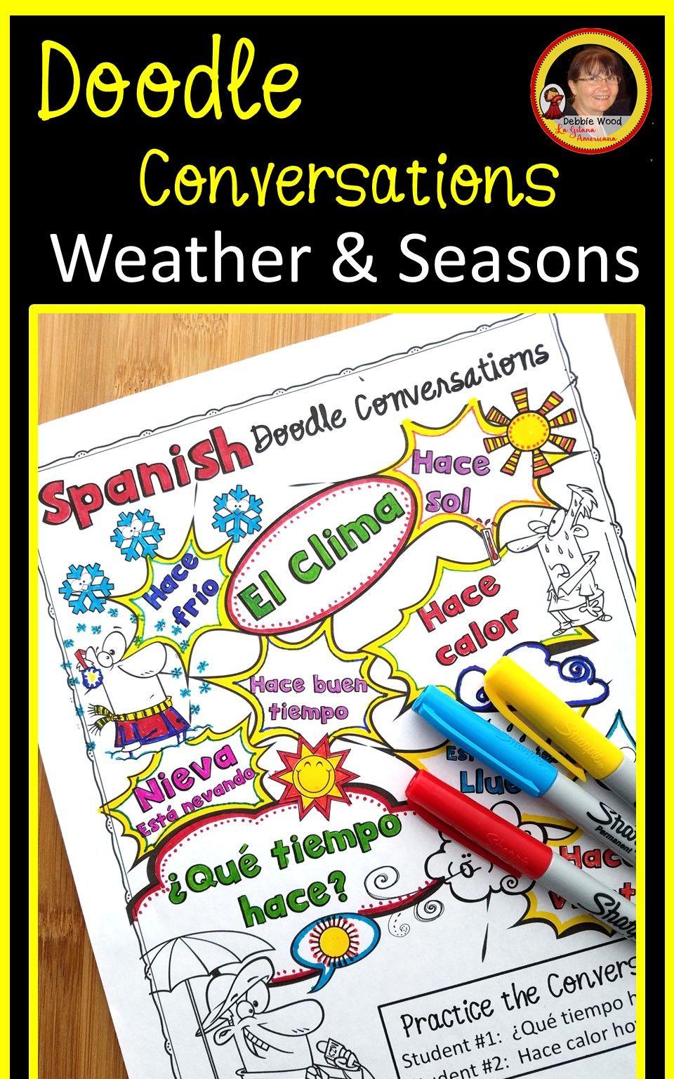 Spanish Weather Worksheets Spanish Learning Teaching